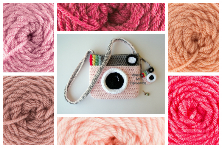 Pink Camera Purse Crocheted