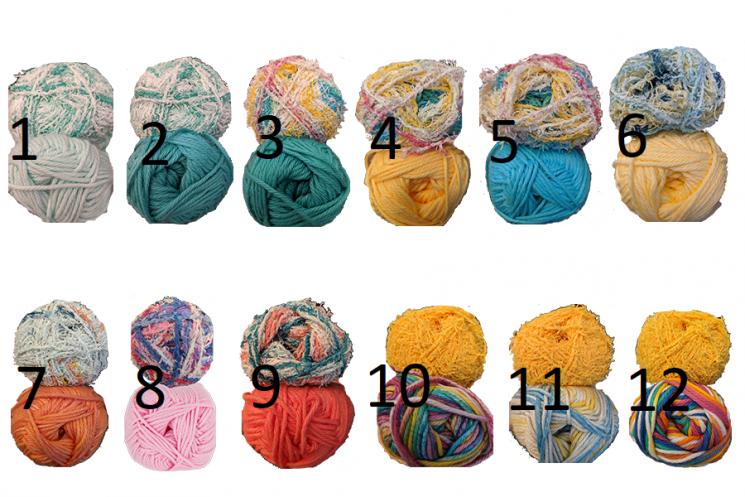 Crocheted Seashell Scrubby Cotton & Scrubby Yarn Color Choices