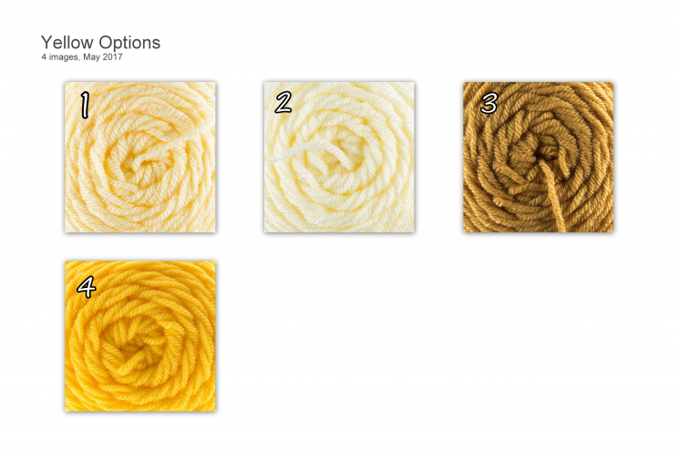 Yellow Yarn Choices