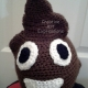 Child Poop Emoji Crocheted Hat without Ear flaps