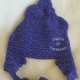 Purple Sparkle Poop Hat Adult Teen
