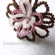 Creative Art Expressions Handmade Seed Bead Wire Wrapped Flower Ring Jewelryy