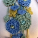 Flower Necklace Scarf Crocheted