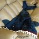 Blue Green Shark Blanket Child Crocheted