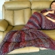Thick Adult Teen Mermaid Blanket Red Purple Silver