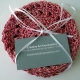 Red & White Peppermint Christmas Cotton Round Coasters