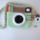 Mint Green Camera Purse & Matching Key Chain & Camera Charm