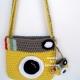 Back of Yellow Camera Purse Crocheted