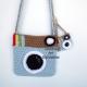 Light Blue Camera Purse & Matching Key Chain & Camera Charm