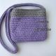 Back of Purple & Gray Camera Purse