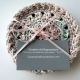 Pastel Pink Crocheted Round Cotton Coasters