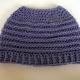 Lavender Purple Messy Bun Hat Beanie, Pony Tail Hat