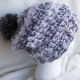Hat Shown with Gray Pom