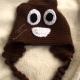 Brown Poop Emoji Hat Crocheted Adult/Teen