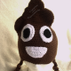 Adult/Teen Poop Emoji Hat in Brown with Ear Flaps
