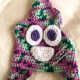 Unicorn Poop Toddler Hat Crocheted Pink Green Purple Mint