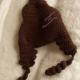 Back of Poop Emoji Brown Hat Crocheted Child Size