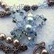 Blue & Bronze Pearl Butterfly Necklace