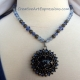 Creative Art Expressions Handmade Blue & Antique Silver Necklace Jewelry Design