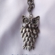 Creative Art Expressions Handmade Antique Silver Owl Necklace Jewelry Design