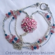 Creative Art Expressions Handmade Pink Bouquet Necklace