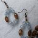 Creative Art Expressions Handmade Blue & Mahogany Necklace Bracelet & Earring Je