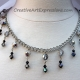 Creative Art Expressions Black & Silver Crystal Necklace & Earring Set Jewelry D