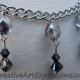 Black & Silver Crystal Necklace & Earring Set Jewelry Design