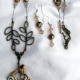 Creative Art Expressions Handmade Spring Bird Necklace & Earring Set