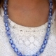 Creative Art Expressions Handmade Blue Necklace & Earring Jewelry Set