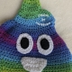 Unicorn Poop Emoji Hat in Parrott