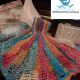 Seashell Hanging Towel with ruffle in Pink Teal & Orange