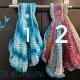 Crocheted Seashell Towel no ruffle and ruffle