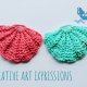 Small Tulle Seashell Scrubbies
