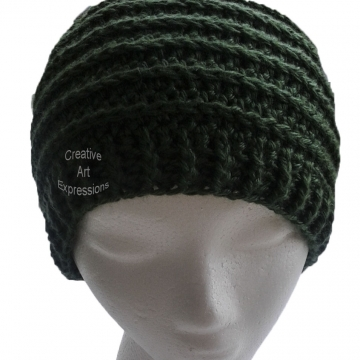 Green Messy Bun Hat