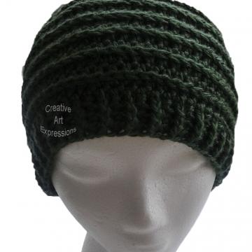 Green Messy Bun Hat