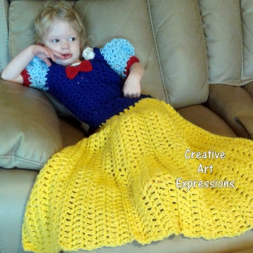 Fair Princess Dress Blanket Crocheted Toddler