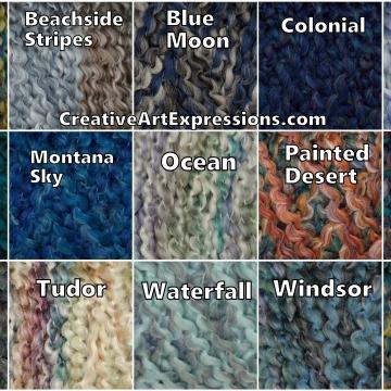 Blue Lion Brand Homespun Color Choices