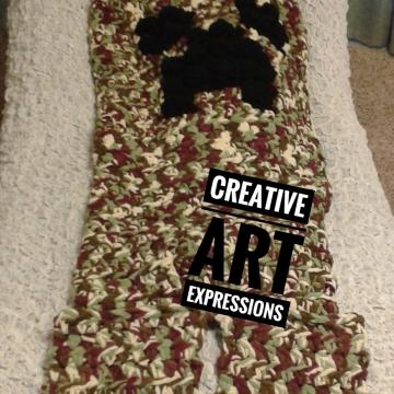 MOB Gamer Sleeper Blanket Crocheted MOB Camo Blanket