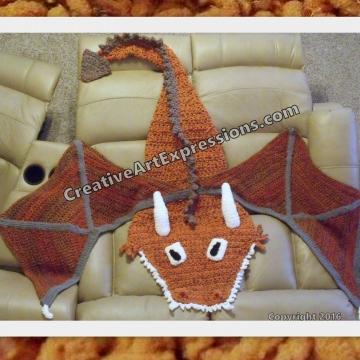 Dragon Blanket Child Wildfire & Pumpkin