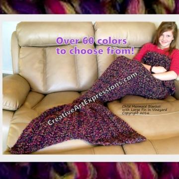 Mermaid blanket in Vineyard