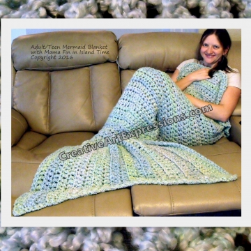 Mermaid Blanket Adult/Teen in Island Time