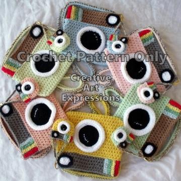 Camera Purse & Miniature Camera Purse Crochet Pattern