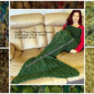 Green Mermaid Blanket Adult Teen