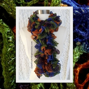 Knitted Disco Ruffle Scarf