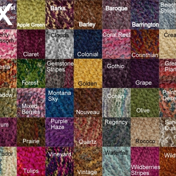 Lion Brand Homespun Color Choices
