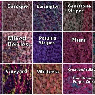 Purple Lion Brand Homespun Color Choices