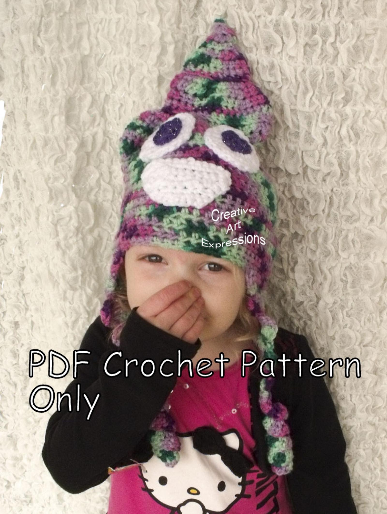 Poop Emoji Unicorn Poop Emoji Hat Crochet Pattern Pdf