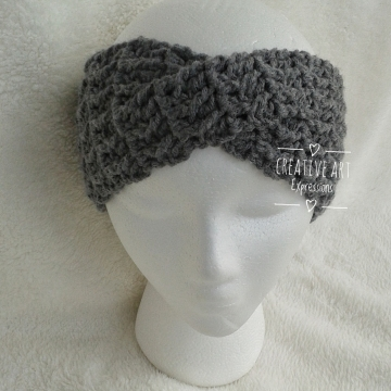 Head Band Crocheted, Made to Order ,Ear Warmer, Twisted, Women Gifts, Blue, Black, Gray, Brown, Red, Pink, Purple, Green, Yellow, Orange