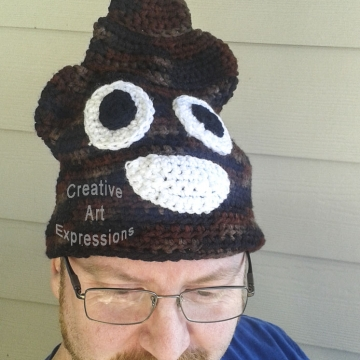 Ready to Ship, Shades of Brown Poop Emoji Inspired, Large Adult Crocheted Hat, Poo Hat, Guy Gifts, hipster hat, Crocheted Hat, Handmade